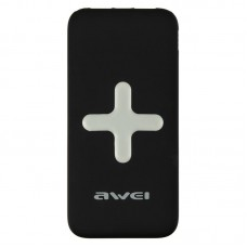 Внешний аккумулятор Power Bank Awei P98k QI БЗ 7000mAh черный