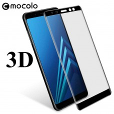 Защитное стекло Mocolo 3D для Samsung Galaxy A8 Plus 2018 черный