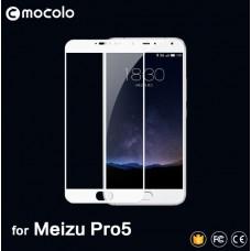 Защитное стекло Mocolo Full сover для Meizu Pro 5 белый