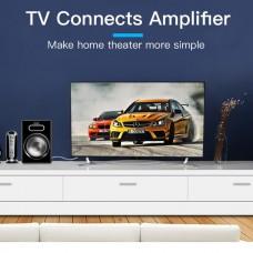Кабель Audio 3.5мм-2RCA Vention PVC gold-plated 0.5m Black (BCFBD)