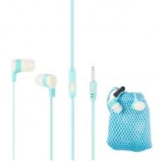 Наушники гарнитура вакуумные Keeka MC92 Carry Bag Blue