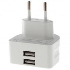 Зарядное устройство сетевое Remax 2USB 2.1A RP-U22 + cable Lightning White