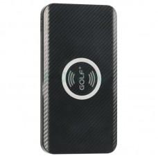 Внешний аккумулятор Power Bank Golf W3 QI БЗ 5000mAh черный