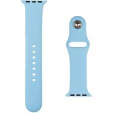 Ремешок силиконовый SK для Apple Watch 38mm Light синий (21)