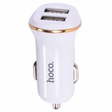 Адаптер автомобильный Hoco 2 USB 2.1A Z1 белый