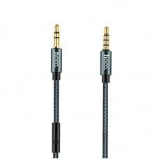 Кабель Aux Audio Hoco Noble UPA-04 3.5-3.5 + Mic 1m нитка серый