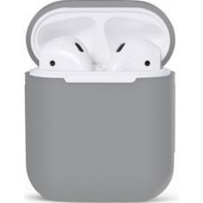 Чехол силиконовый Nomi для наушников Apple AirPods серый