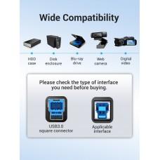 Кабель USB-Type-B 3.0 Vention PVC 3m 5Gbps Black (COOBI)