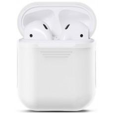 Чехол силиконовый Nomi для наушников Apple AirPods белый