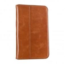 Чехол книжка кожаный WRX Premium для Samsung Tab 3 7.0 Lite T110 T111 Лак коричневый